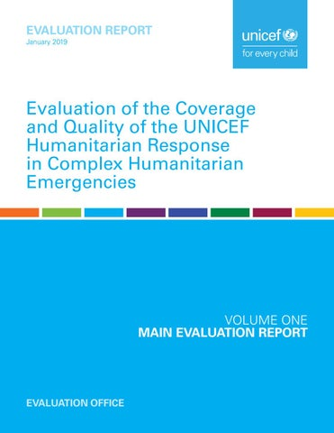 Evaluation of the Coverage and Quality of the UNICEF Humanitarian