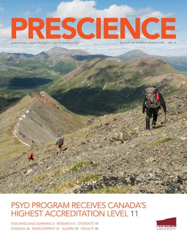 Prescience, Vol  8 (2019) by Faculty of Science, Memorial University