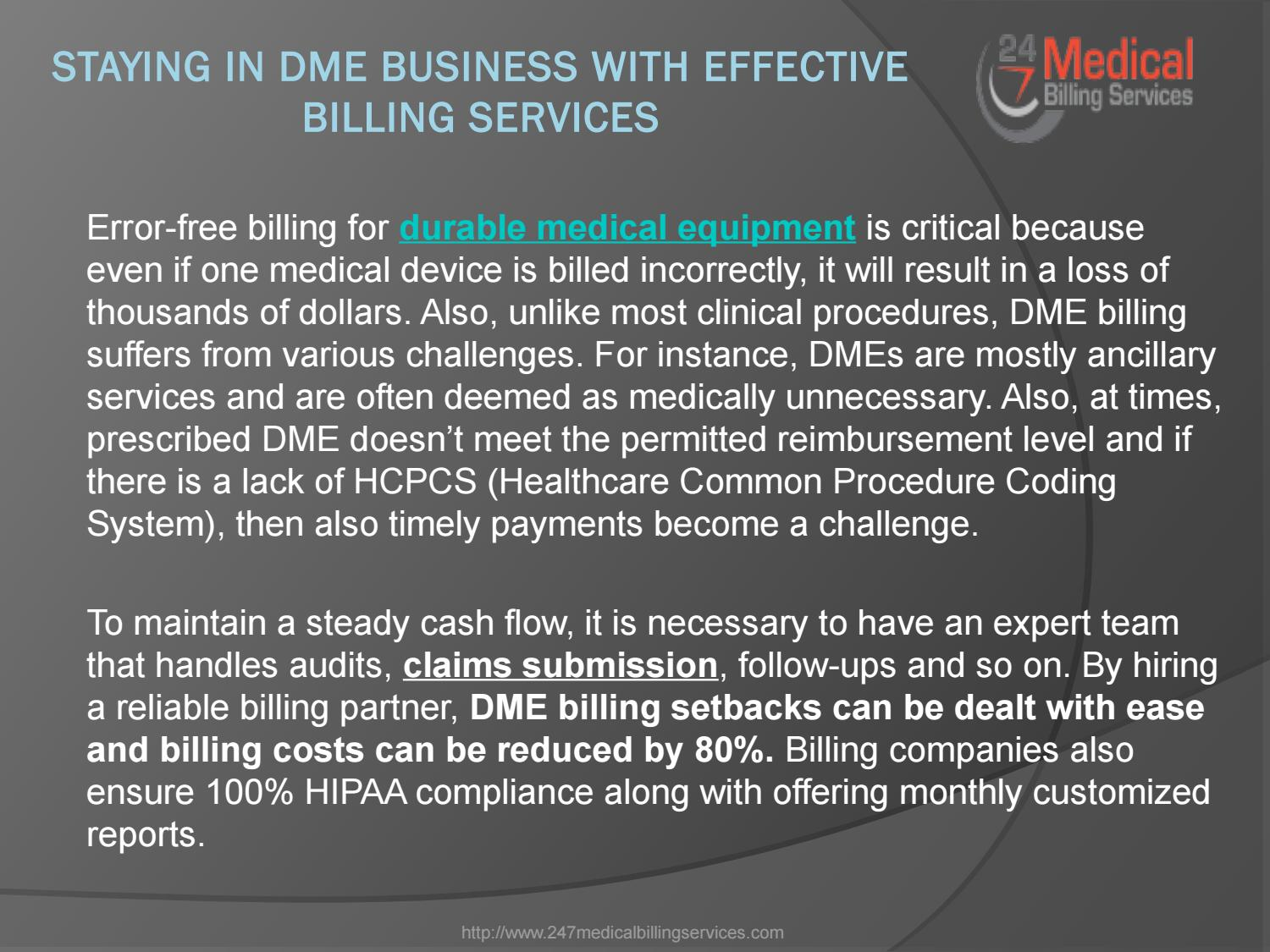 Staying in DME Business with Effective Billing Services by