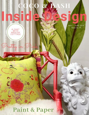 Page 1 of COCO & DASH LAUNCHES INSIDE DESIGN MAGAZINE