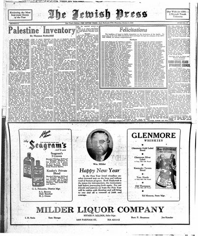 October 3, 1940: Rosh Hashanah Edition Part II by Jewish Press - issuu