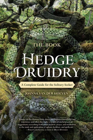 The Book of Hedge Druidry, by Joanna Van Der Hoeven by