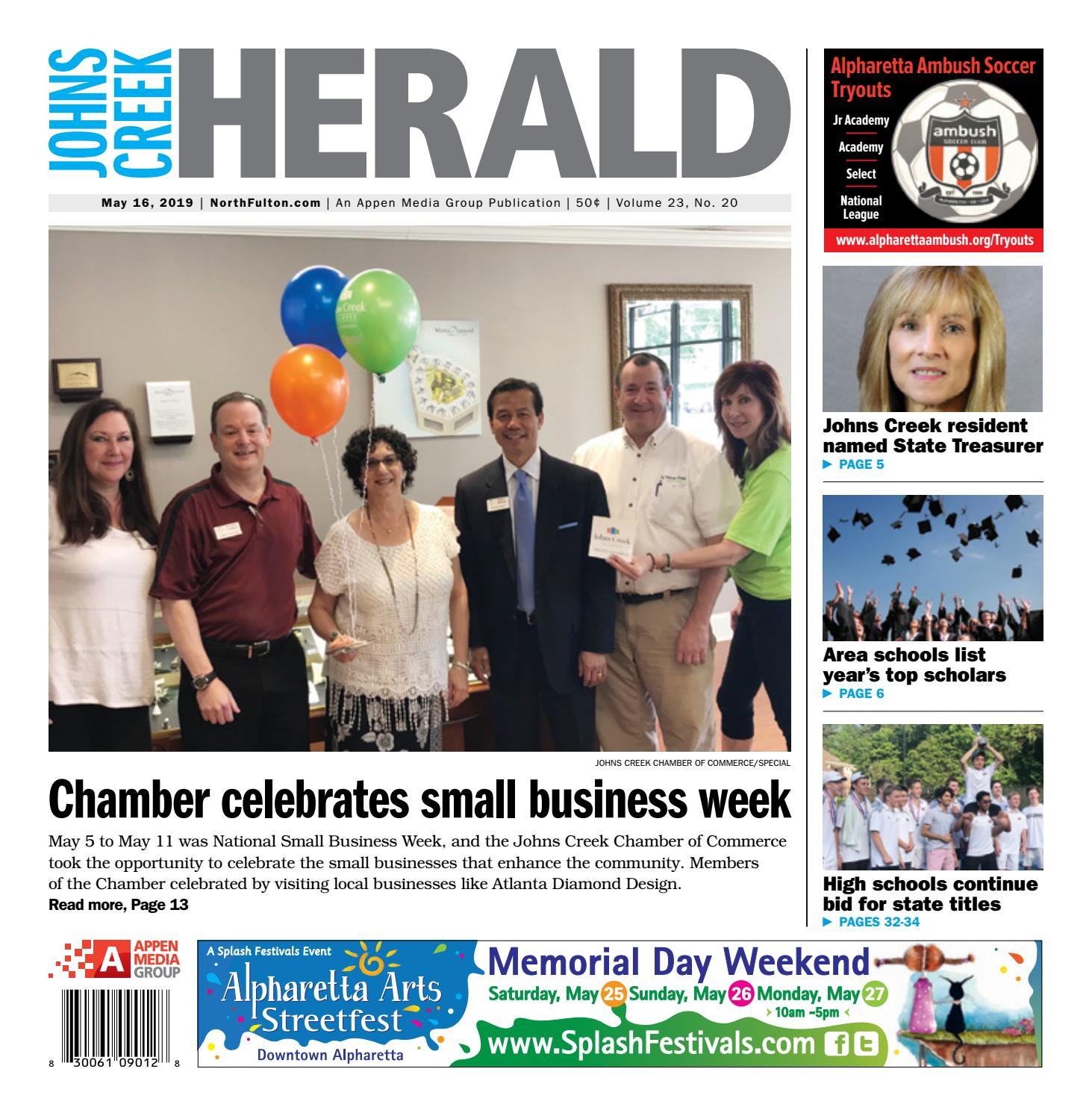 Johns Creek Herald — May 16, 2019 by Appen Media Group - issuu