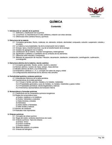Antología Asignatura De Química By Instituto México