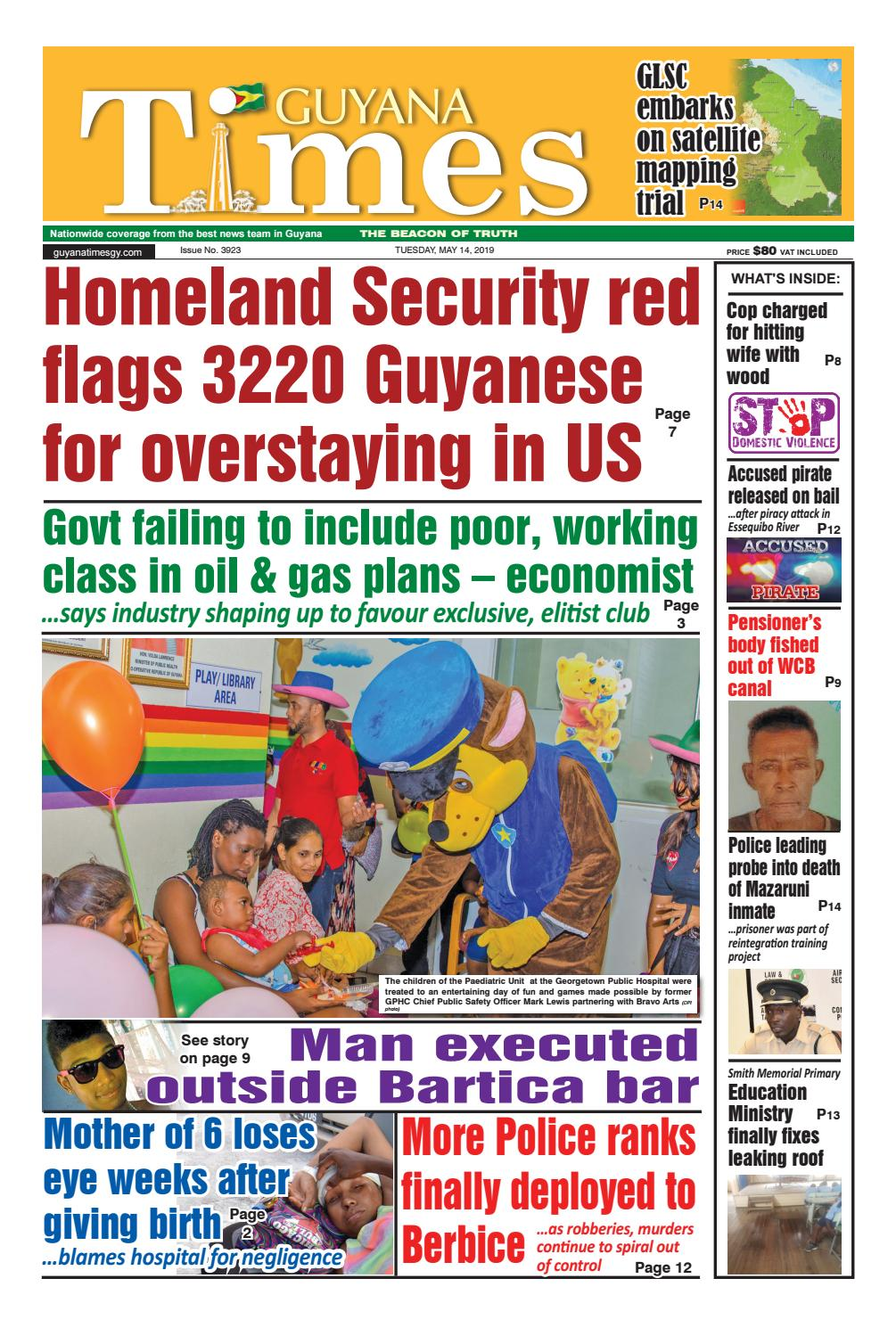 Guyana Times Tuesday May 14, 2019 by Gytimes - issuu