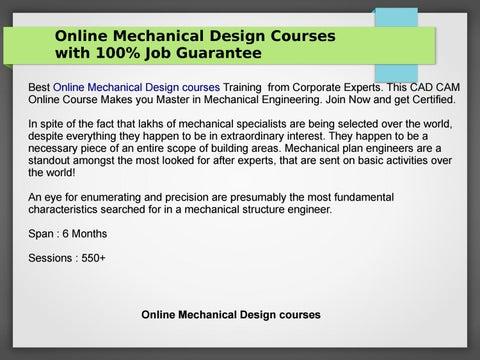 Online Mechanical Design Courses With 100 Job Guarantee By Minakshisondule Issuu