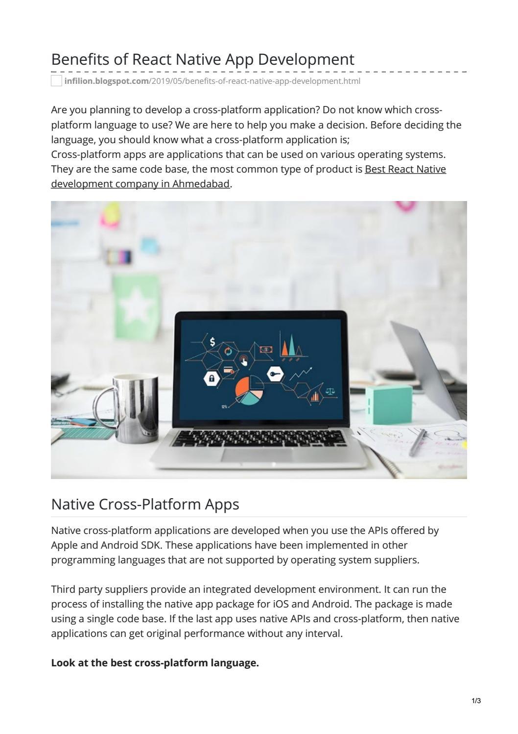 Benefits of React Native App Development by infilon - issuu