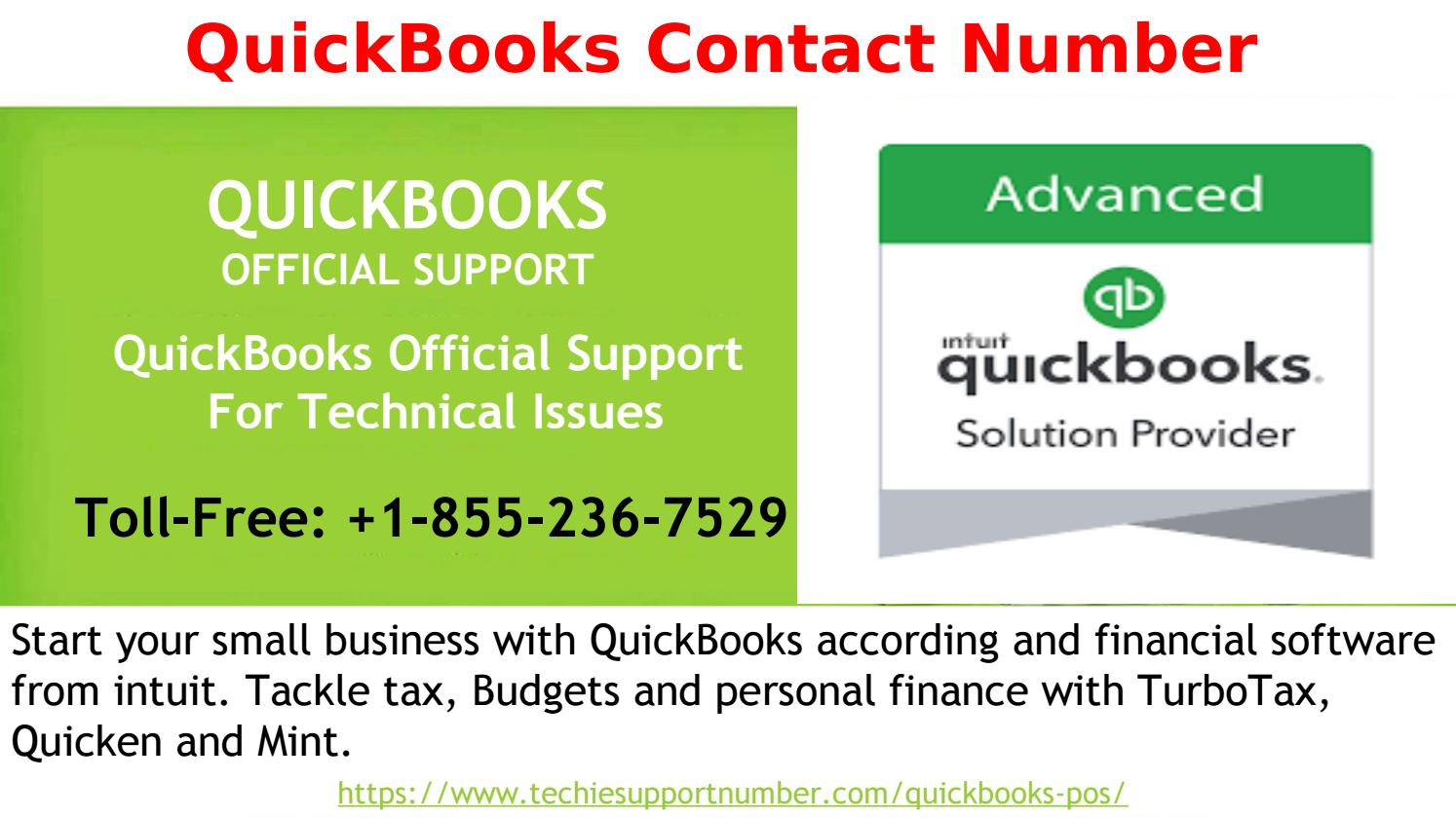 Dial QuickBooks Contact Number +1 855-236-7529 to get the