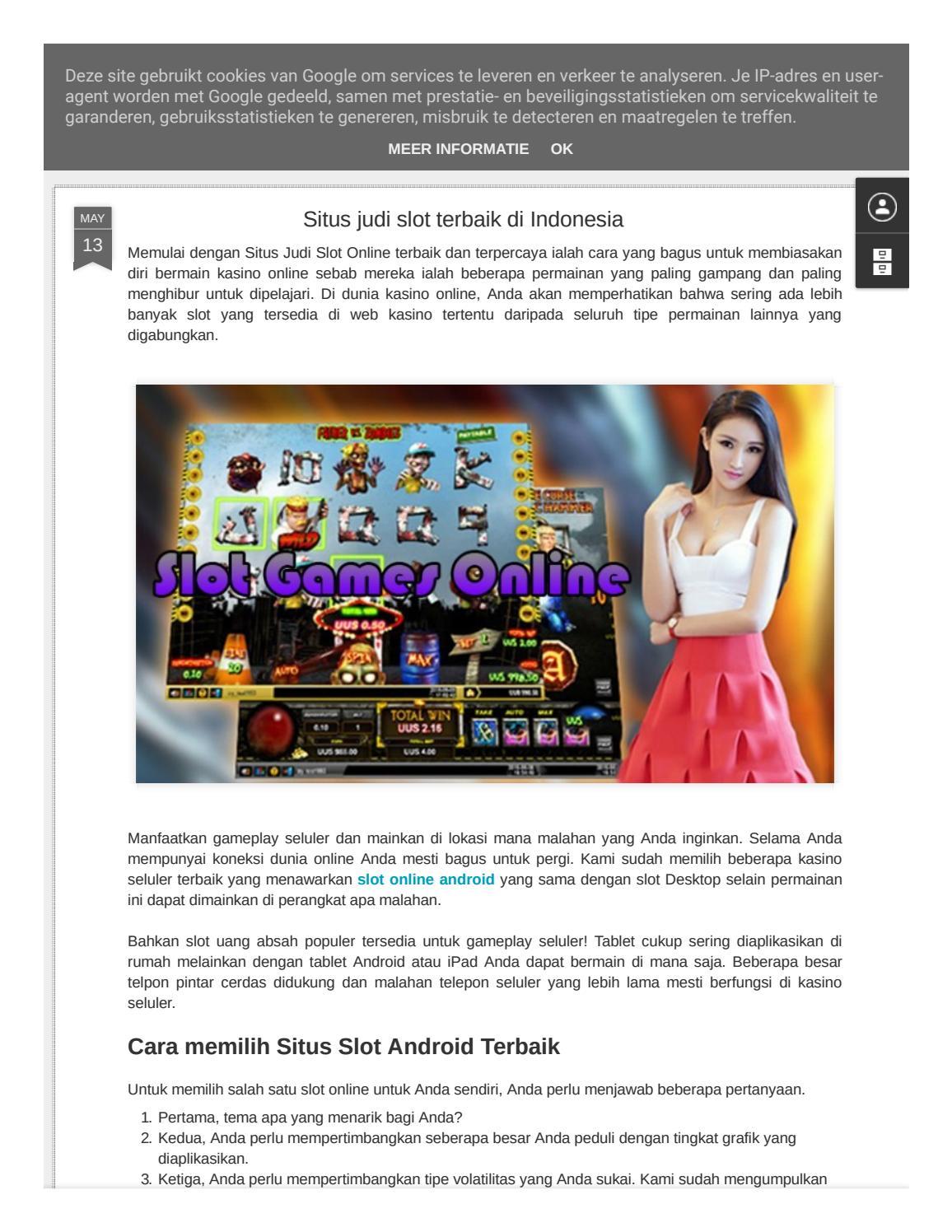 Situs Casino Online Terbaik Situs Judi Slot Terbaik Di Indonesia By Manoj Kumar Issuu