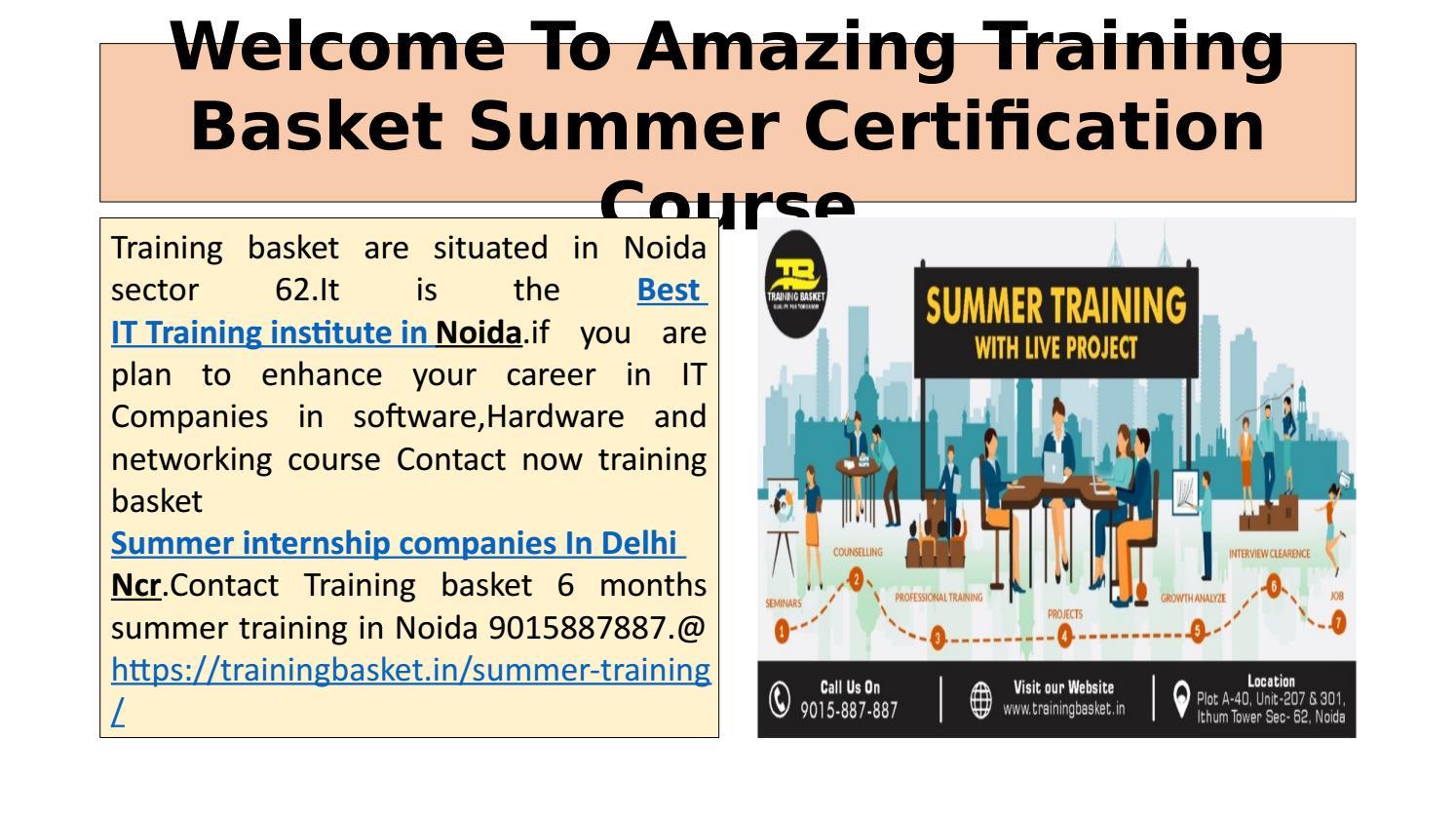 Summer Internship Training Institute In Noida-Training
