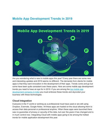 Top Mobile App Development In 2019 by 9series Master - issuu
