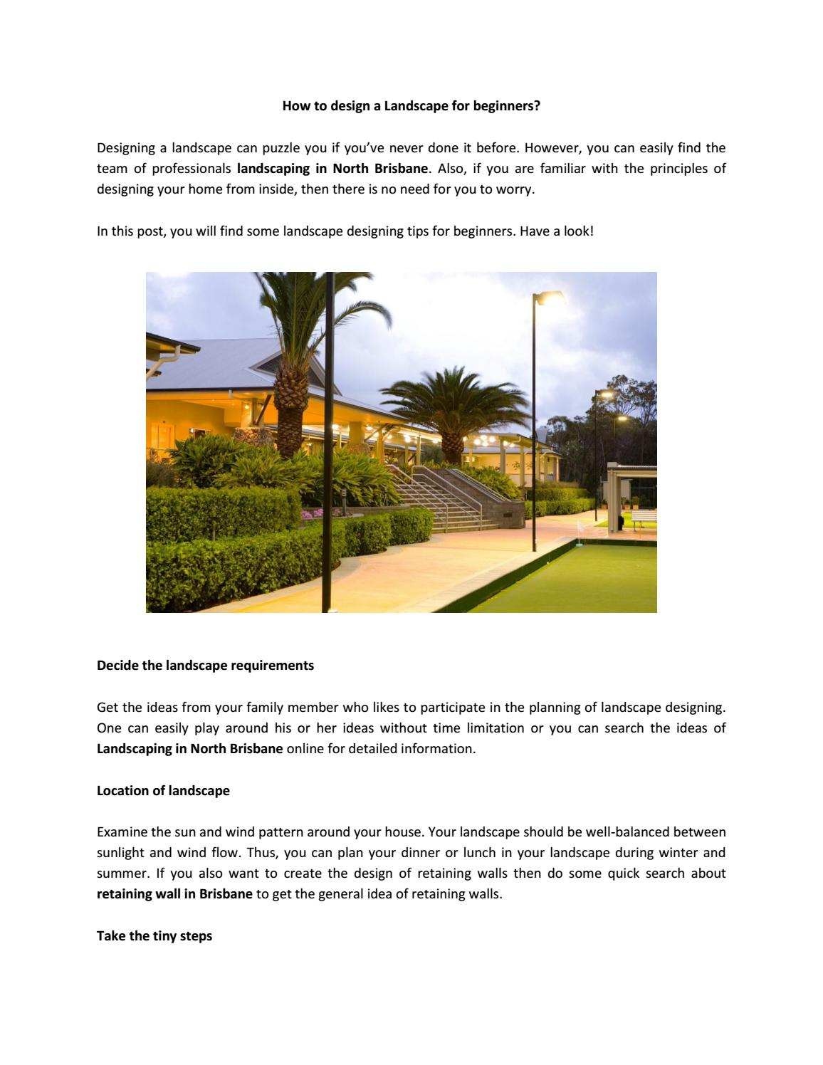 How To Design A Landscape For Beginners By Fassifern Landscapers Issuu
