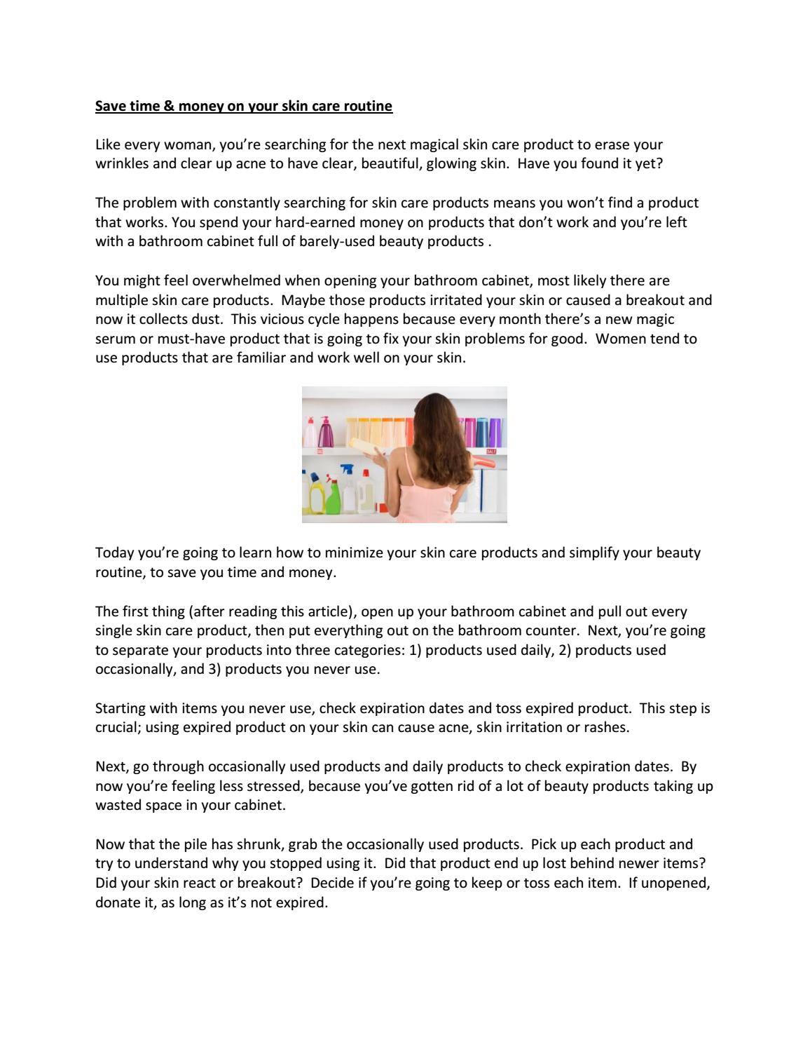ca3950dfd9 Save Time and Money on Skin Care by samanthadench - issuu