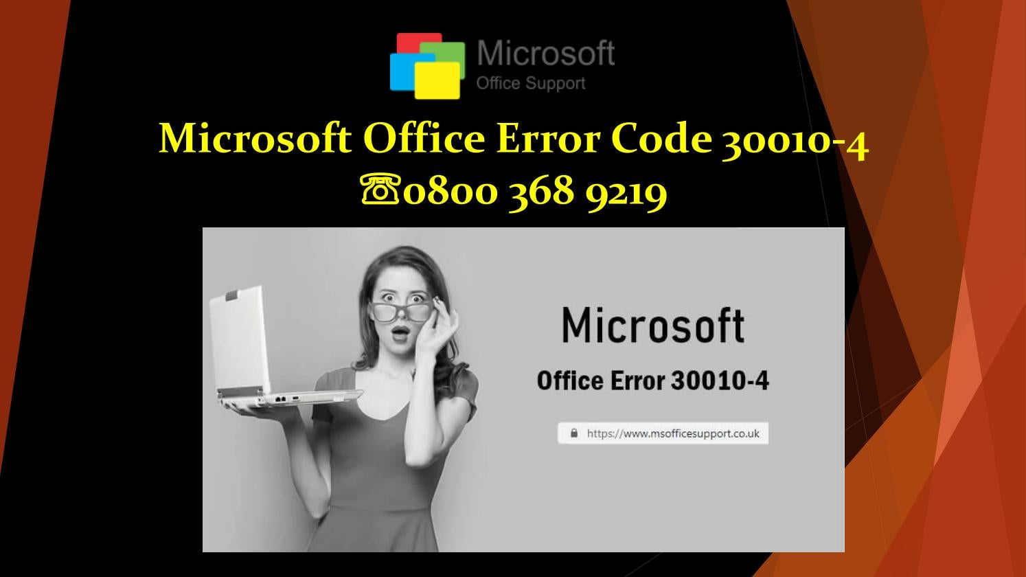 How to Solve Microsoft Office Error Code 30010-4 by viewyourpoint