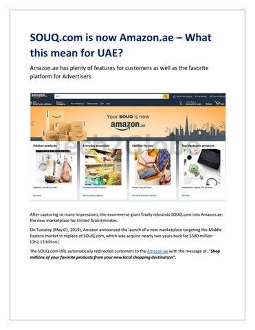 SOUQ COM IS NOW AMAZON AE – WHAT THIS MEAN FOR UAE?