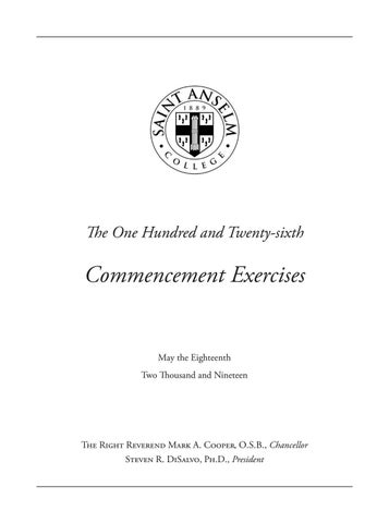The One Hundred and Twenty-sixth Commencement Exercises by