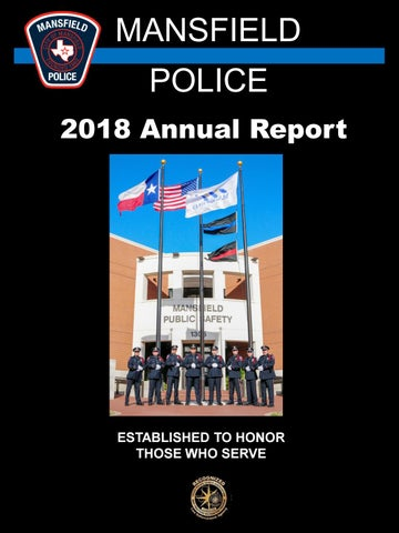 2018 Mansfield Police Department Annual Report by City of