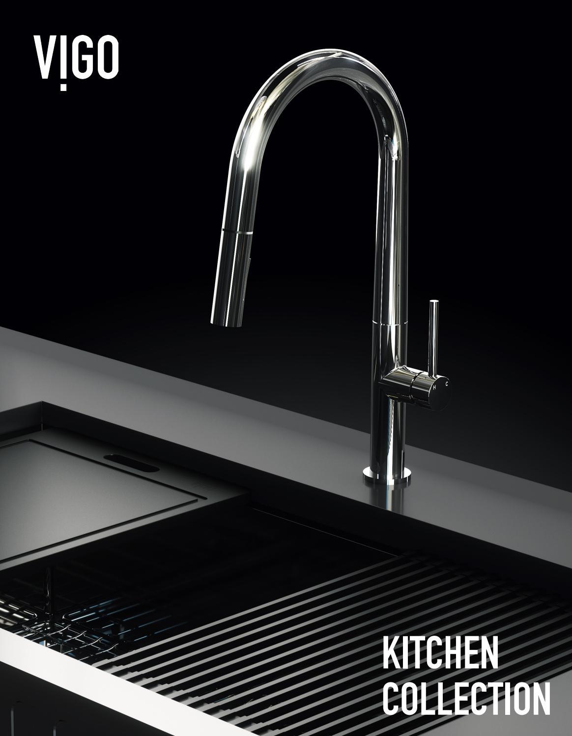 Vigo Laurelton Pull Down Spray Kitchen Faucet In Matte Black vigo 2019 kitchen collection by vigo - issuu
