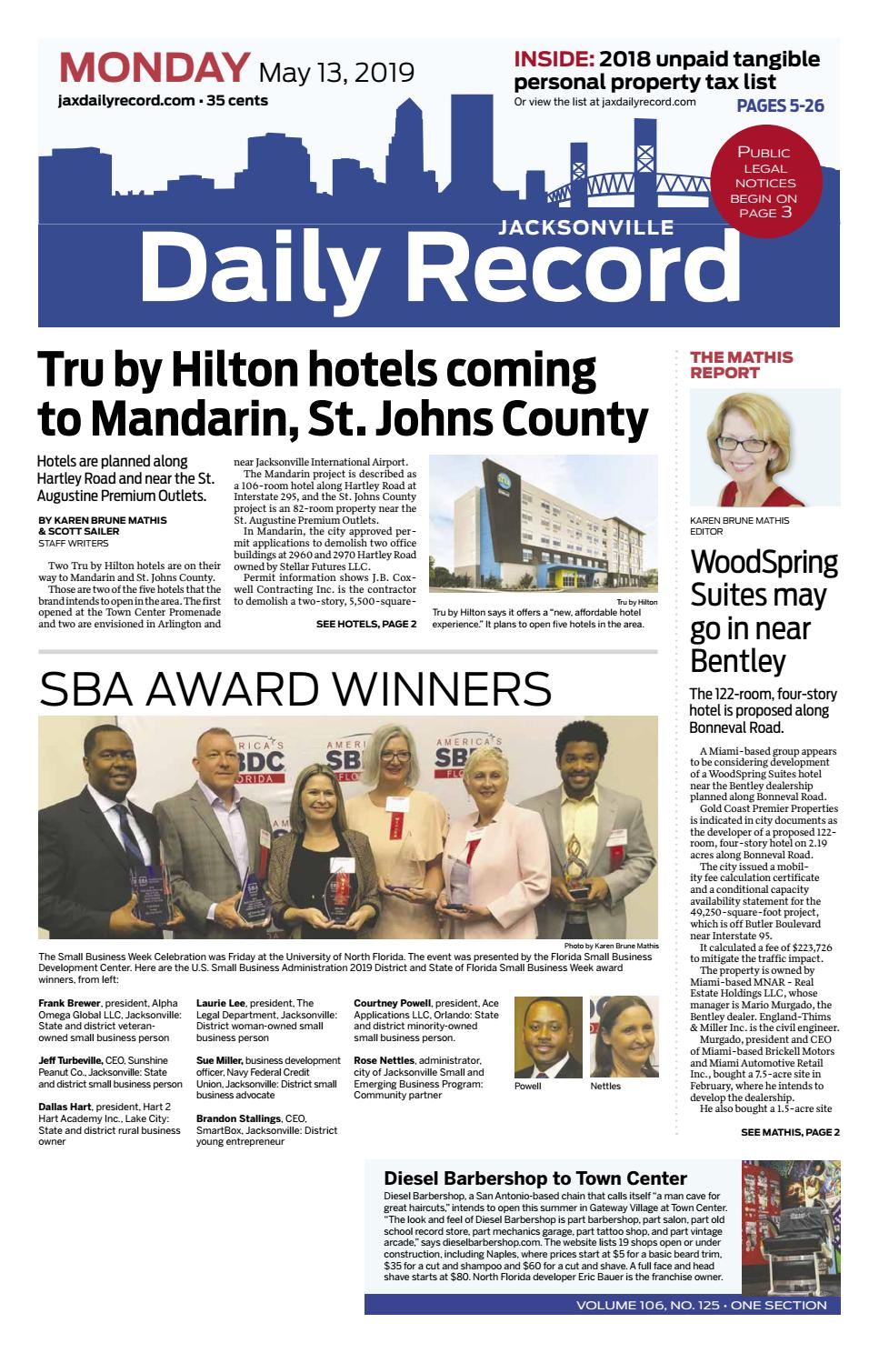 Jacksonville Daily Record 5 13 19 By Daily Record Observer Llc Issuu