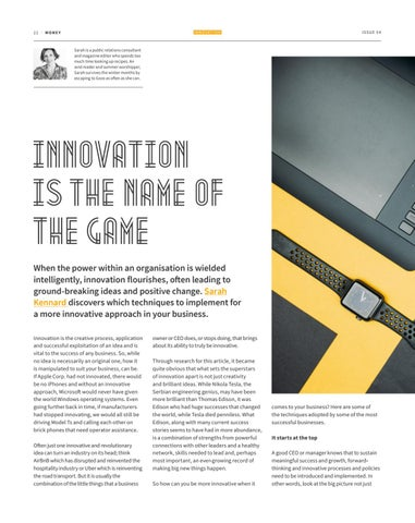 Page 22 of INNOVATION IS THE NAME OF THE GAME