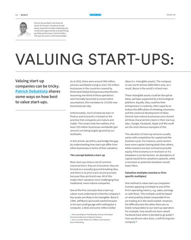 Page 40 of VALUING START-UPS: ART OR SCIENCE?