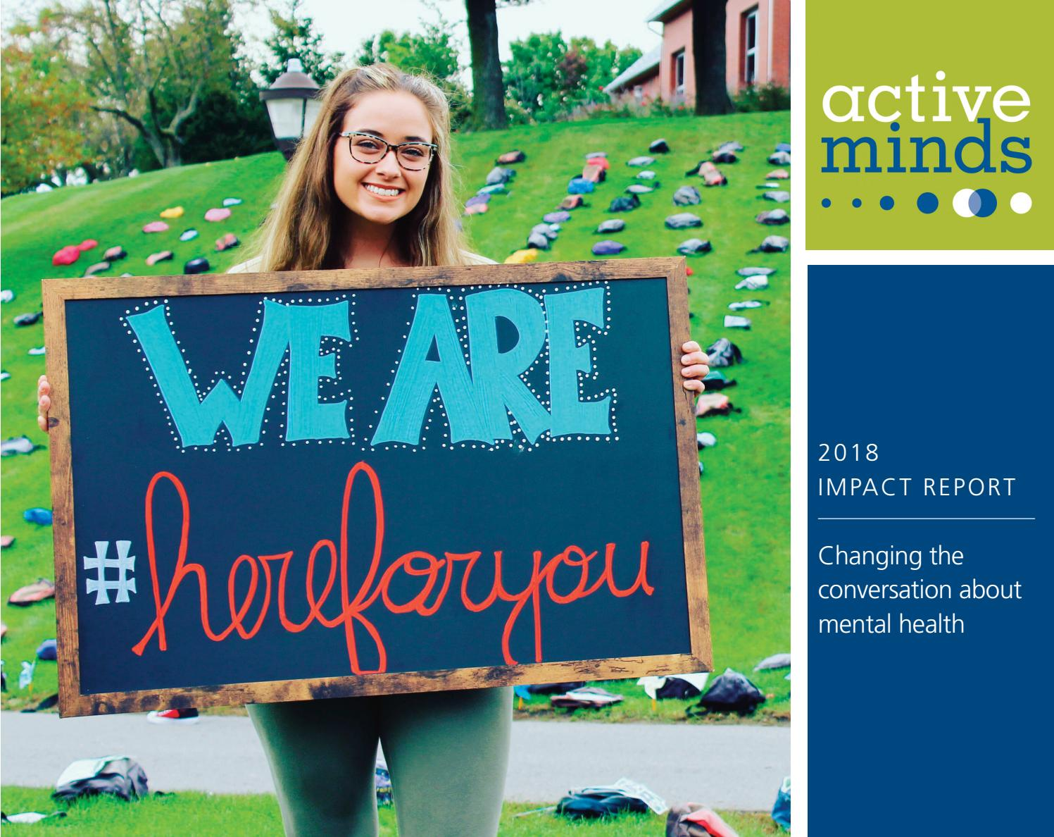 Jennifer Leigh Hammon active minds impact report fy2018active minds, inc. - issuu