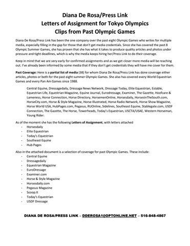 4fc6c9aad25 Diana De Rosa/Press Link Olympic Coverage
