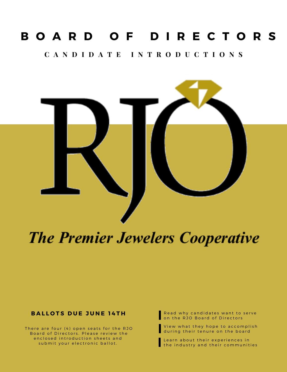Rjo Board Of Directors Candidate