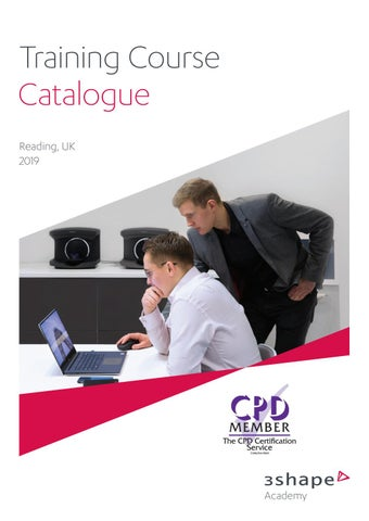 3Shape Academy UK Training Catalogue by Skillbond Direct Ltd