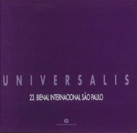 f94cfb6342 23ª Bienal de São Paulo (1996) - Exposição / Exhibit: Universalis by ...