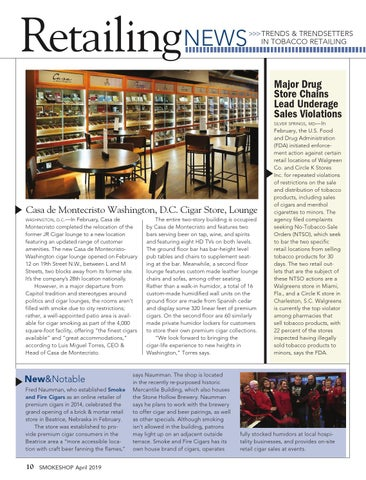 Page 10 of Retailing News — Trends & Trendsetters in Tobacco Retailing