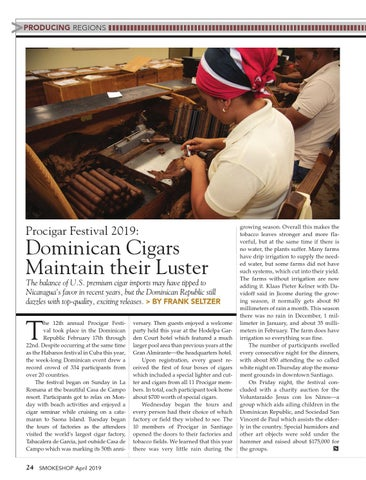 Page 24 of Procigar Festival 2019: Dominican Cigars  Maintain their Luster