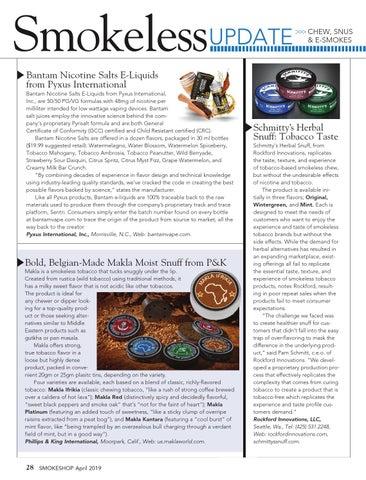 Page 28 of Smokeless Update — Chew, Snus, & Vape