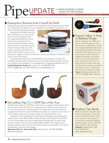 Page 30 of Pipe Update — Merchandise & News from the Pipe World