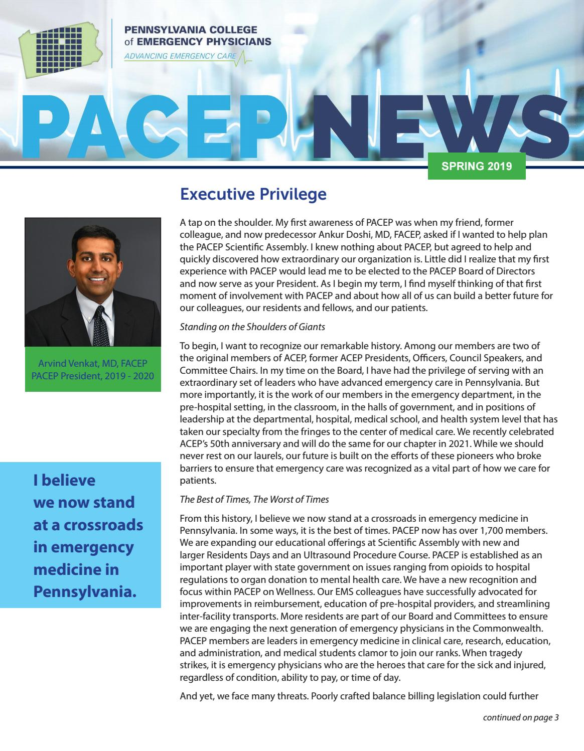 PACEP News - Spring 2019 by SSMS - issuu