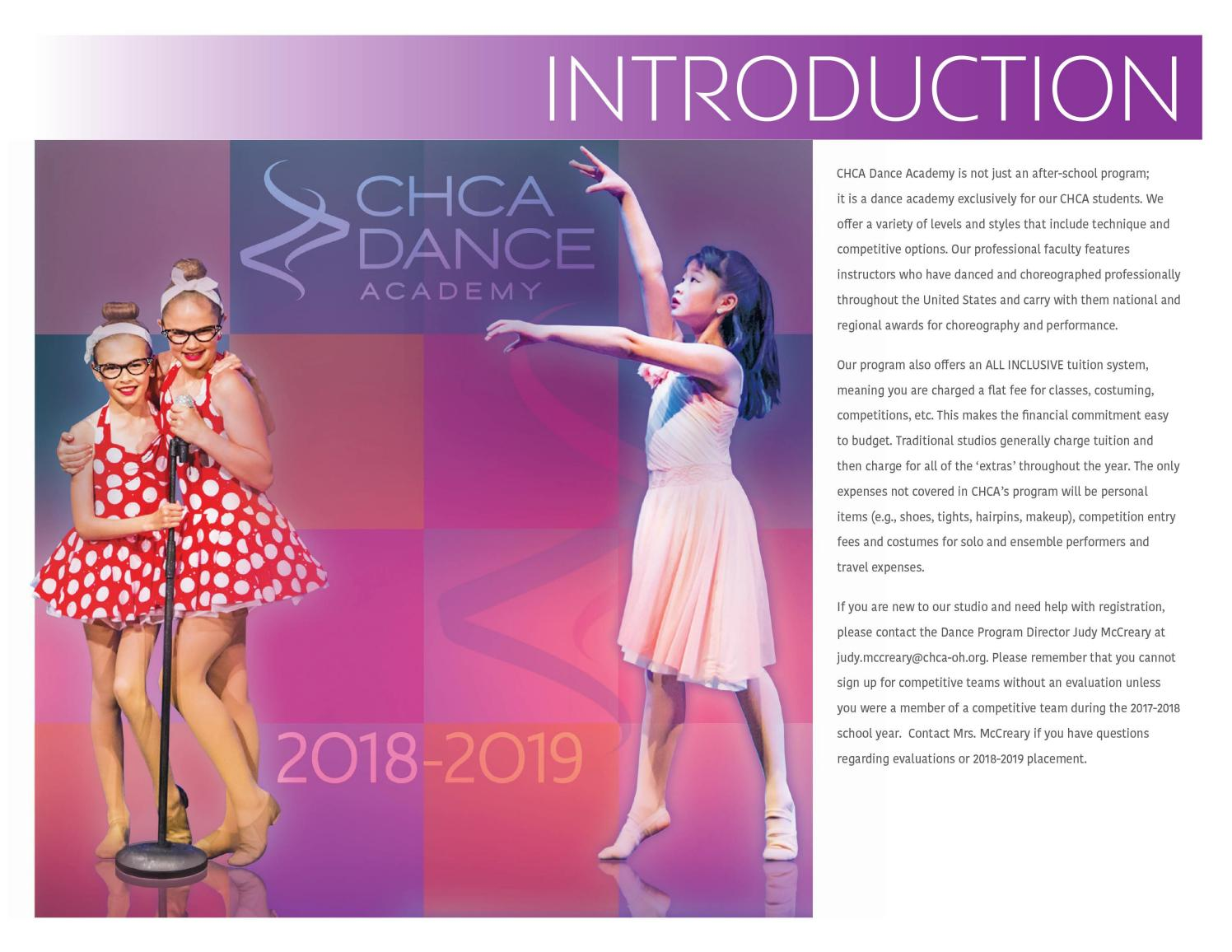 Cincinnati Hills Christian Academy Dance Brochure 2018 2019 By Debbie Shear Issuu