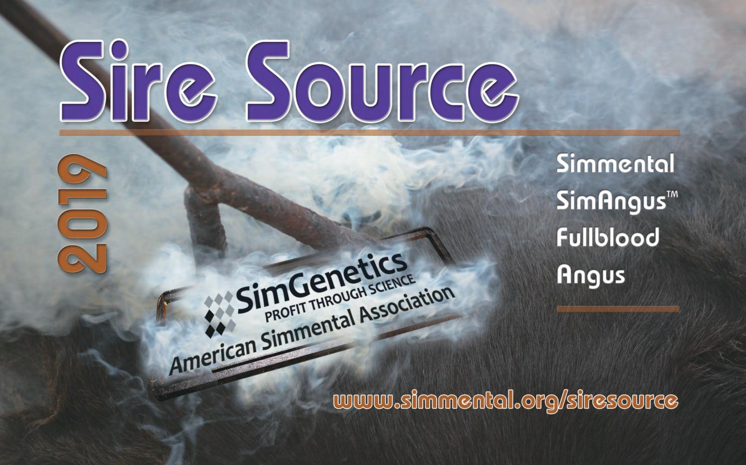 Sire Source 2019 by American Simmental Publication, Inc - issuu