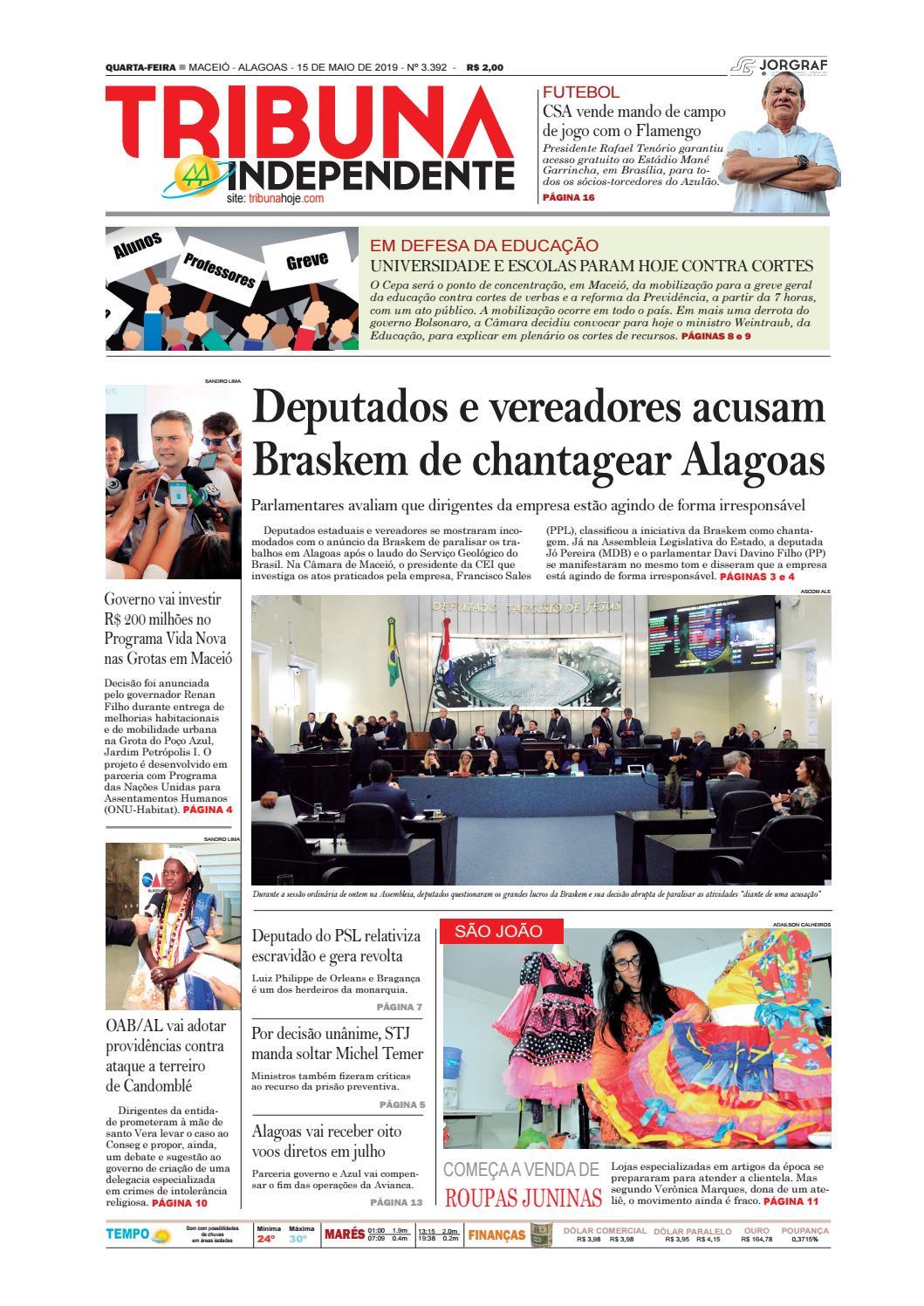 5cb30829d Edição número 3392 - 15 de maio de 2019 by Tribuna Hoje - issuu