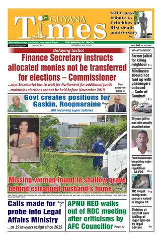 Guyana Times Wednesday May 15, 2019 by Gytimes - issuu