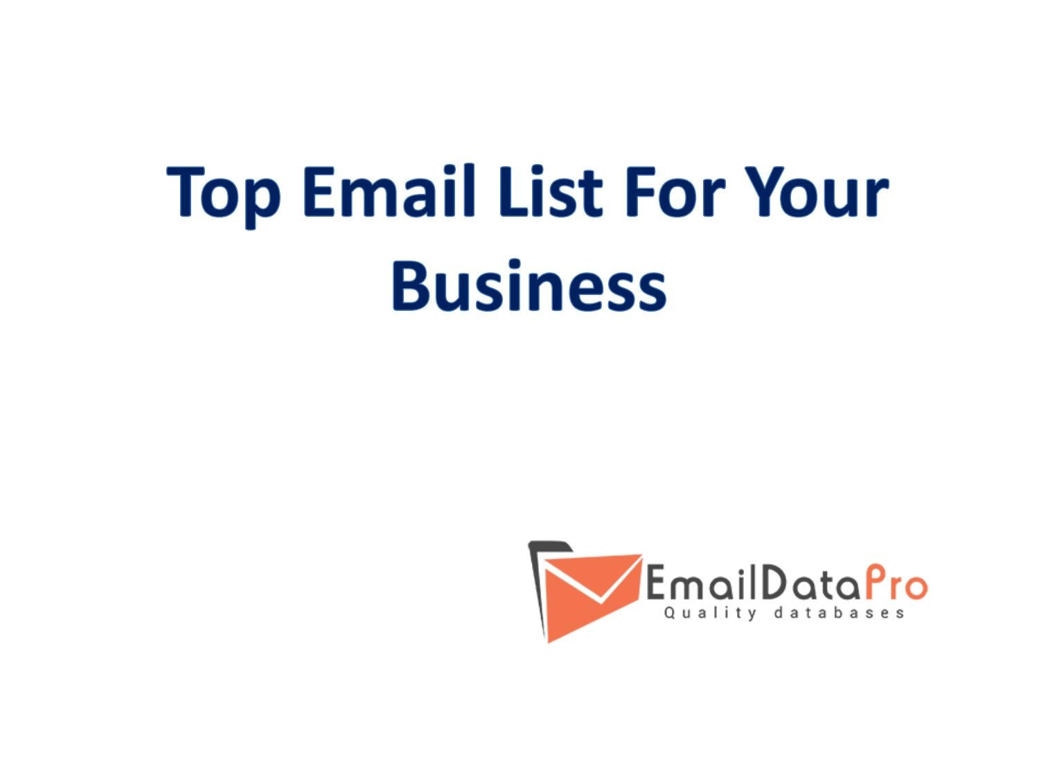 Buy USA Business Email Lists and Email Databases by Emaildata Pro