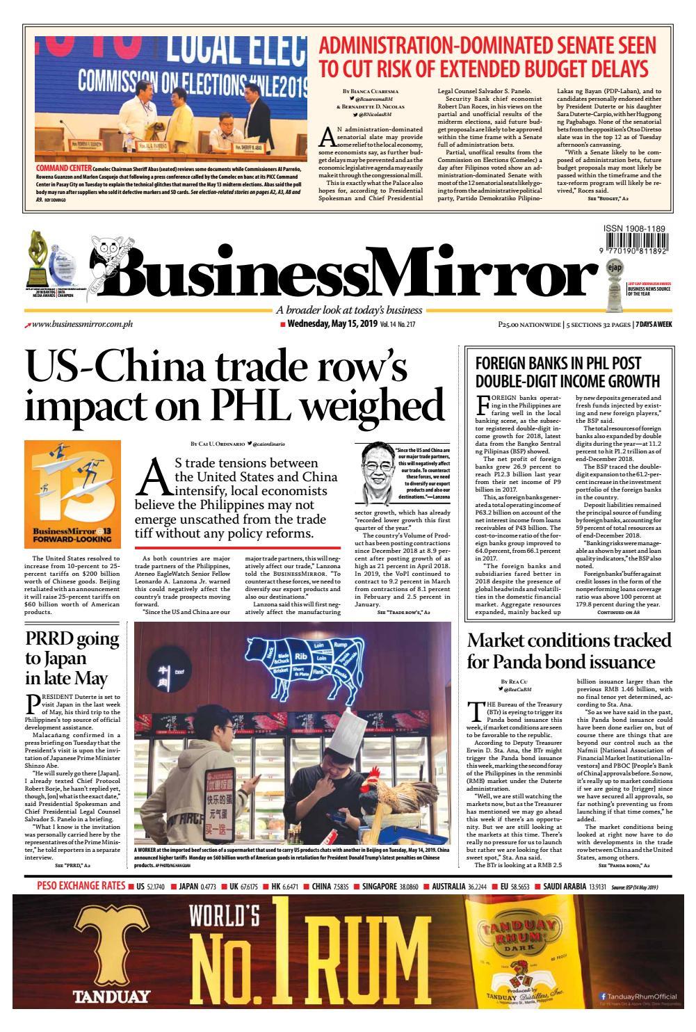 BusinessMirror May 15, 2019 by BusinessMirror - issuu