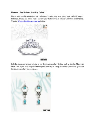 How can I Buy Designer jewellery Online ? by