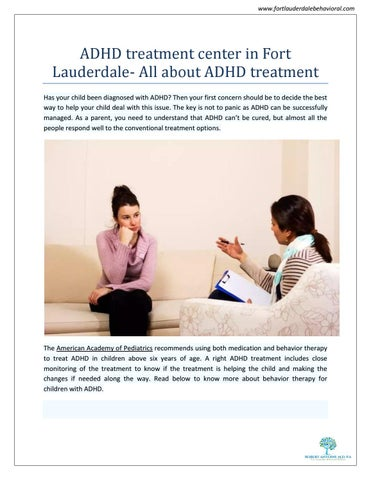 Will Adhd Medication Change My Childs >> Adhd Treatment Center In Fort Lauderdale All About Adhd Treatment