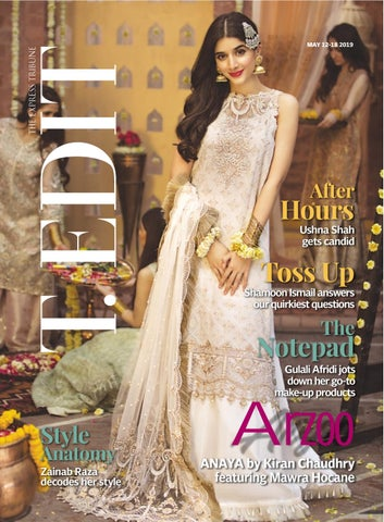 60bdbb5ea8 Pakistan Today Paperazzi Issue 296 May 5, 2019 Cover - Zaha by ...