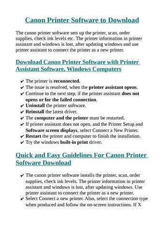 download printer software canon