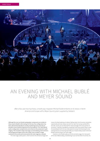 Page 10 of An Evening with Michael Bublé and Meyer Sound