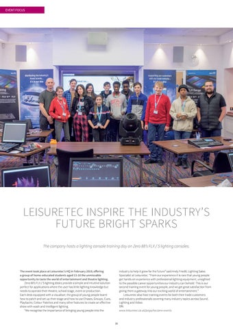 Page 16 of Leisuretec Inspire the Industry's Future Bright Sparks