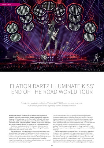 Page 8 of Elation Dartz Illuminate KISS' End of the Road Tour