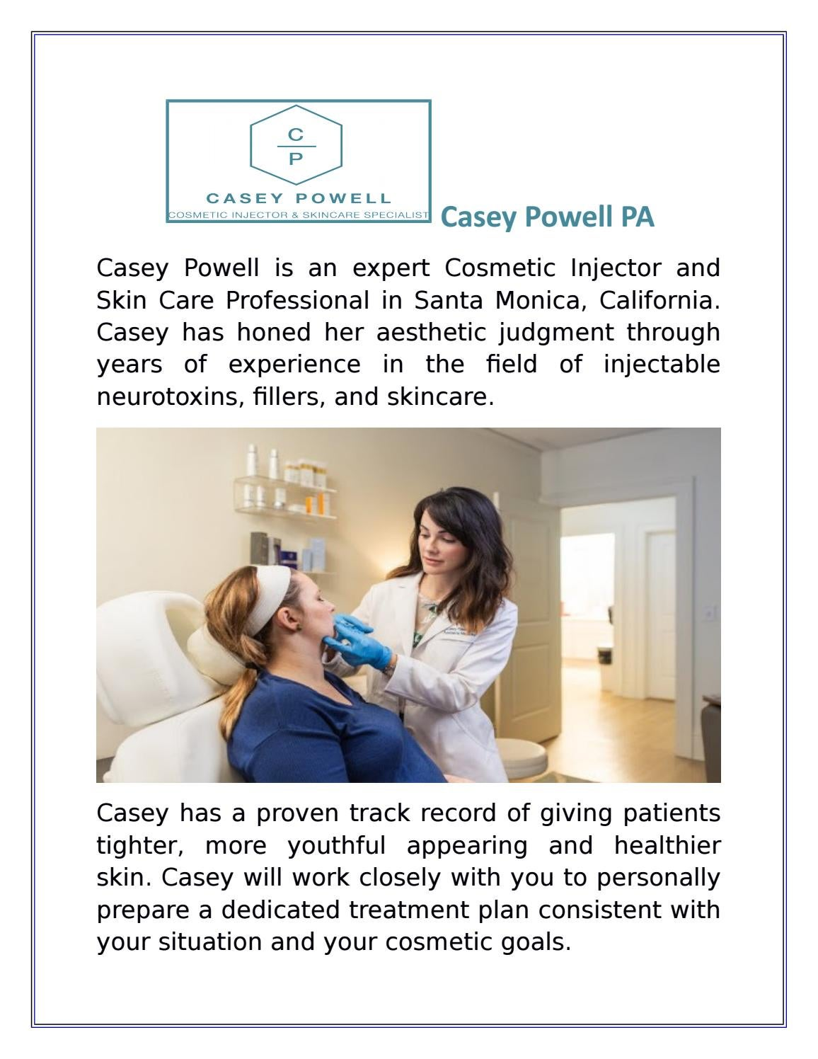 Juvederm Dermal Filler in Los Angeles by Casey Powell PA - issuu