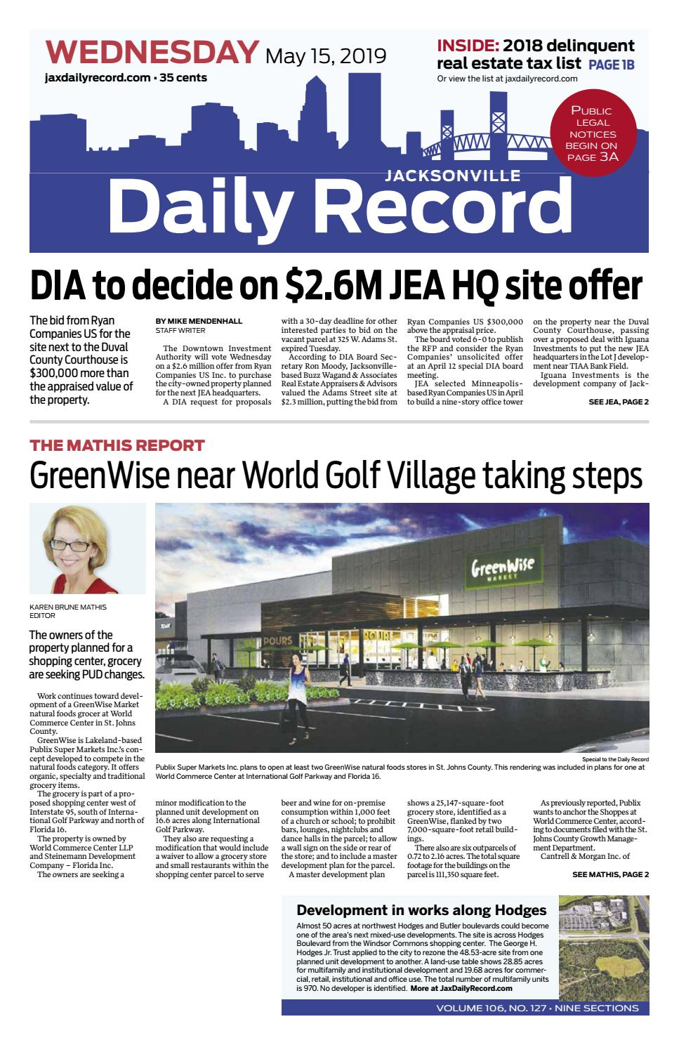 Jacksonville Daily Record 5/15/19 by Daily Record & Observer